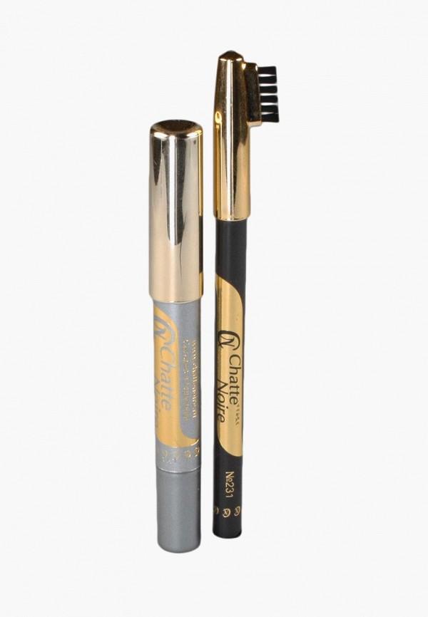 Купить Набор для макияжа бровей Chatte Noire, Карандаш для бровей + Карандаш-тени №112, 3, 46, ch059lwboju6, разноцветный, Осень-зима 2018/2019