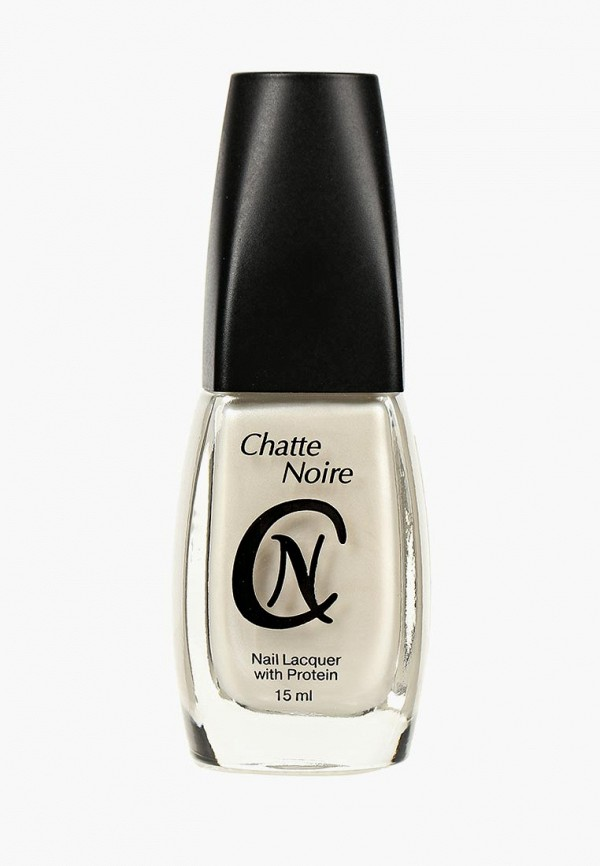 женский лак для ногтей chatte noire, серебряный