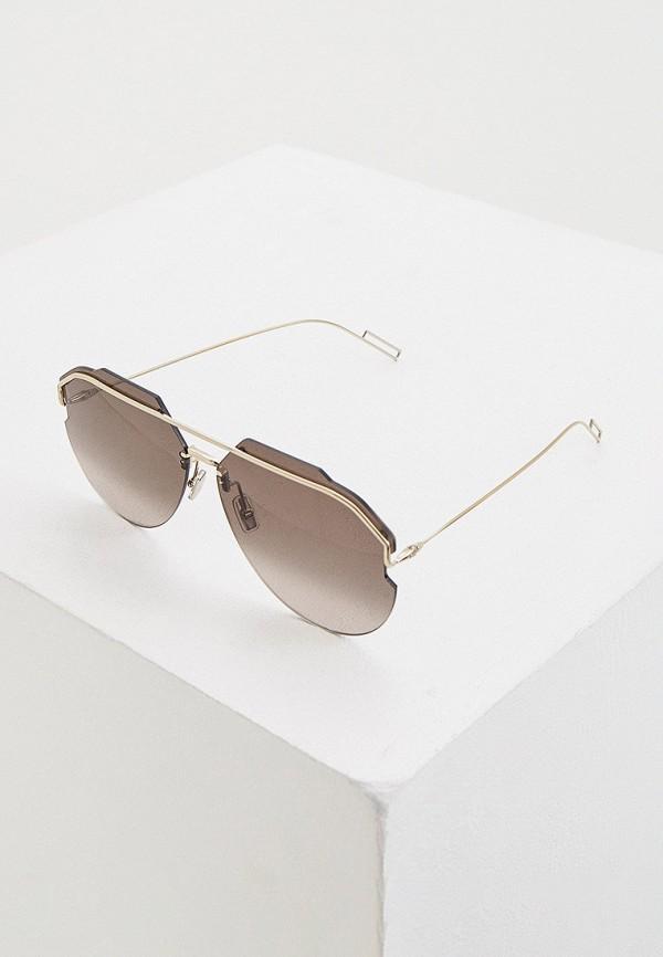мужские авиаторы солнцезащитные очки christian dior homme, золотые