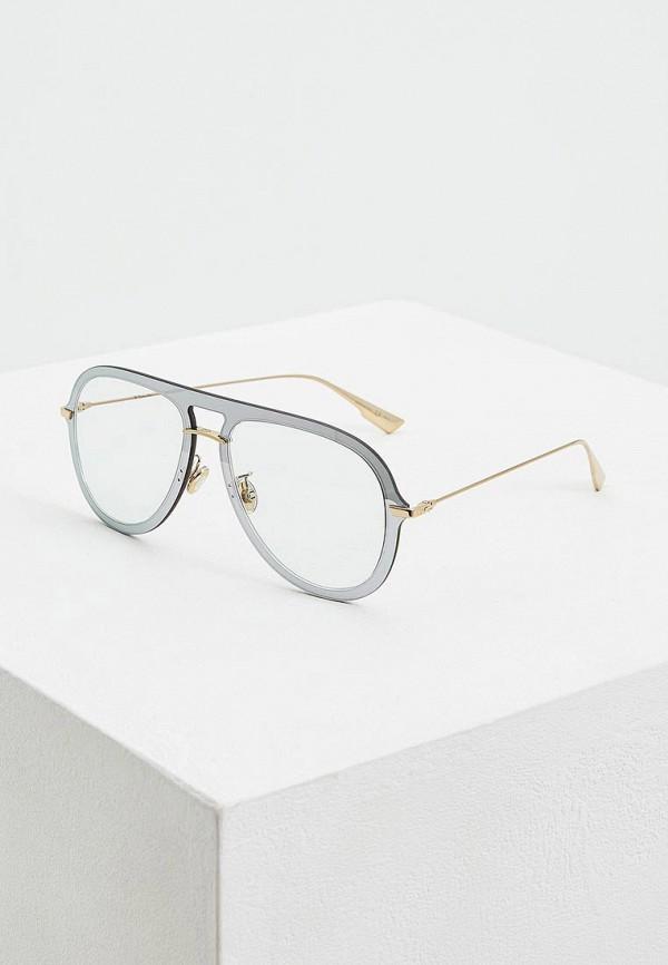 женские авиаторы солнцезащитные очки christian dior, серебряные