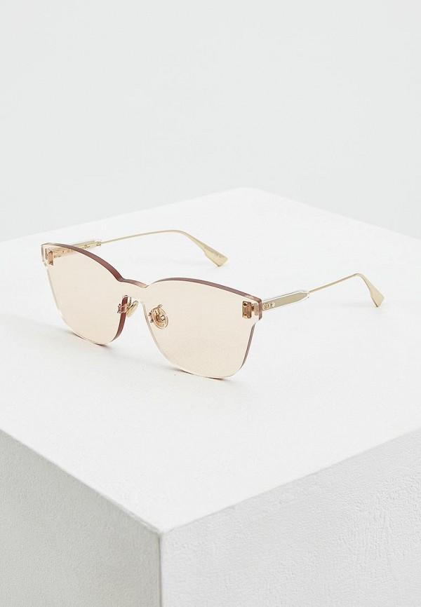 женские солнцезащитные очки christian dior, розовые