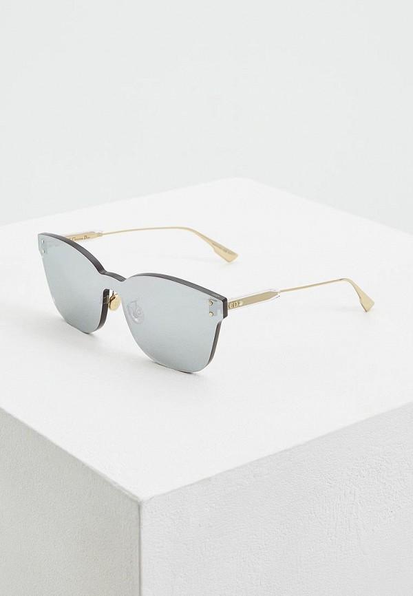 женские солнцезащитные очки christian dior, серебряные