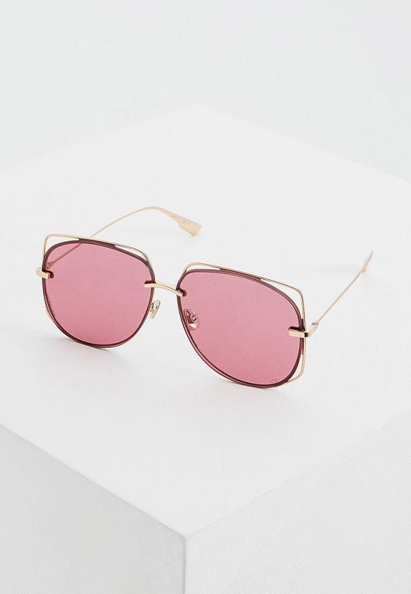 Фото - Очки солнцезащитные Christian Dior золотого цвета