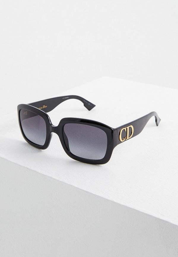 женские солнцезащитные очки christian dior, черные