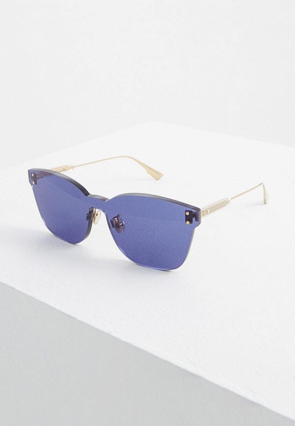 женские солнцезащитные очки christian dior, фиолетовые