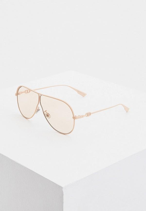 женские авиаторы солнцезащитные очки christian dior, розовые