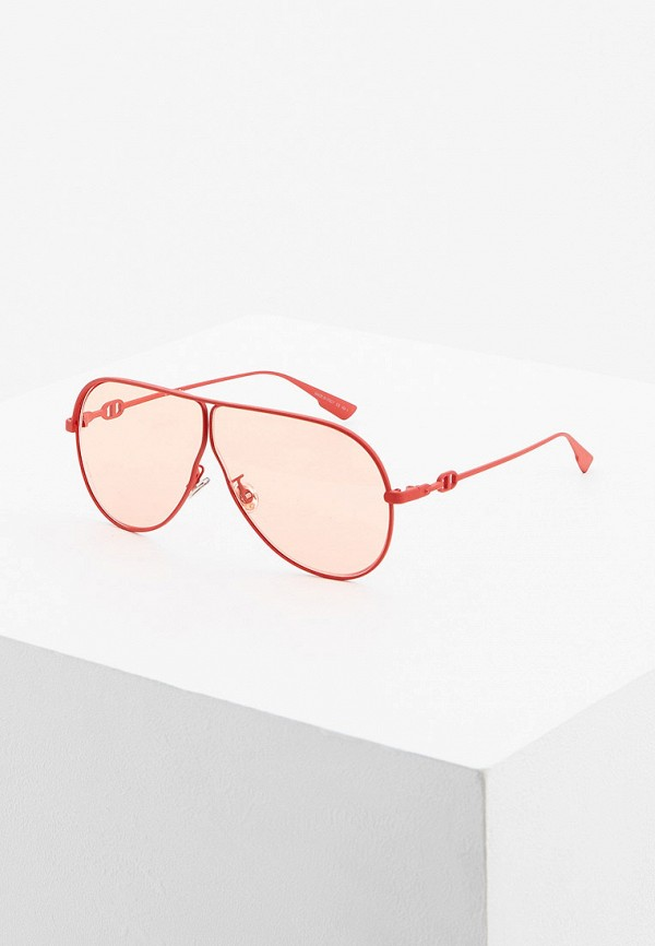 женские солнцезащитные очки christian dior, красные