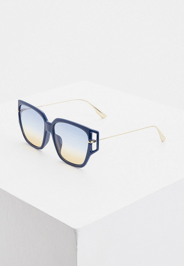 женские солнцезащитные очки christian dior, синие