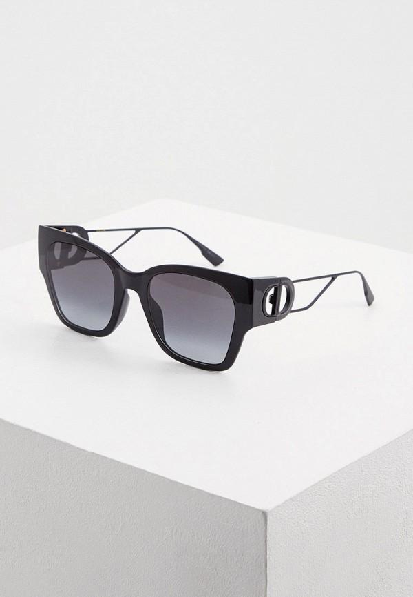 женские квадратные солнцезащитные очки christian dior, черные