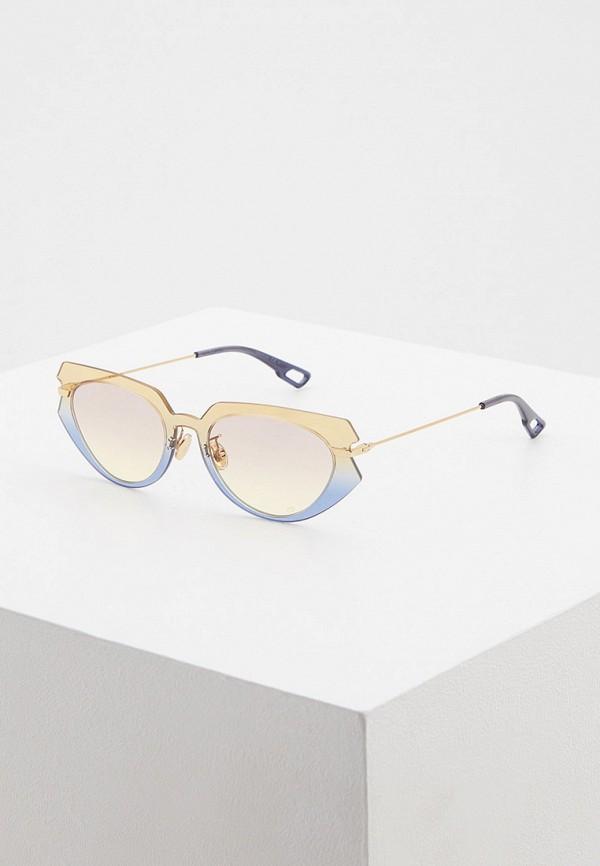 женские солнцезащитные очки кошачьи глаза christian dior, разноцветные