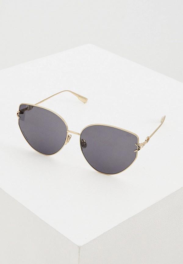 женские солнцезащитные очки christian dior, серые
