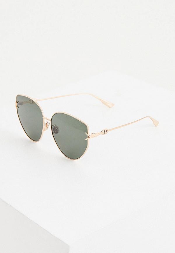 женские солнцезащитные очки кошачьи глаза christian dior, зеленые