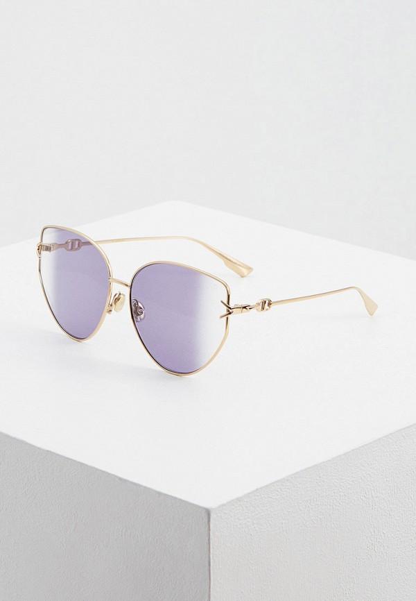 женские солнцезащитные очки кошачьи глаза christian dior, фиолетовые