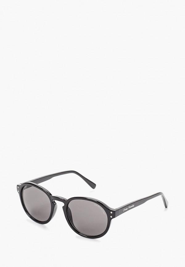 женские солнцезащитные очки cheap monday, черные