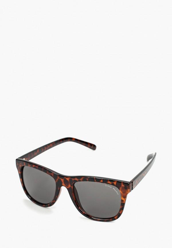 женские солнцезащитные очки cheap monday, коричневые