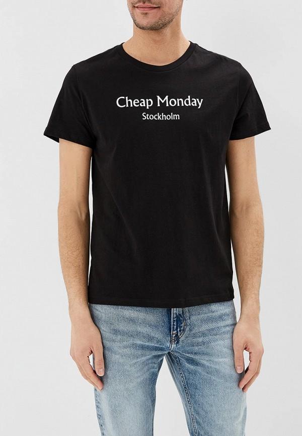 мужская футболка с коротким рукавом cheap monday, черная