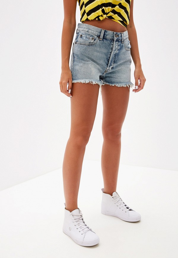 женские джинсовые шорты cheap monday, голубые