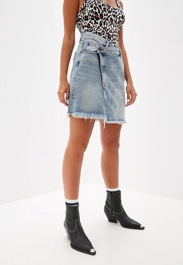 женская джинсовые юбка cheap monday, голубая