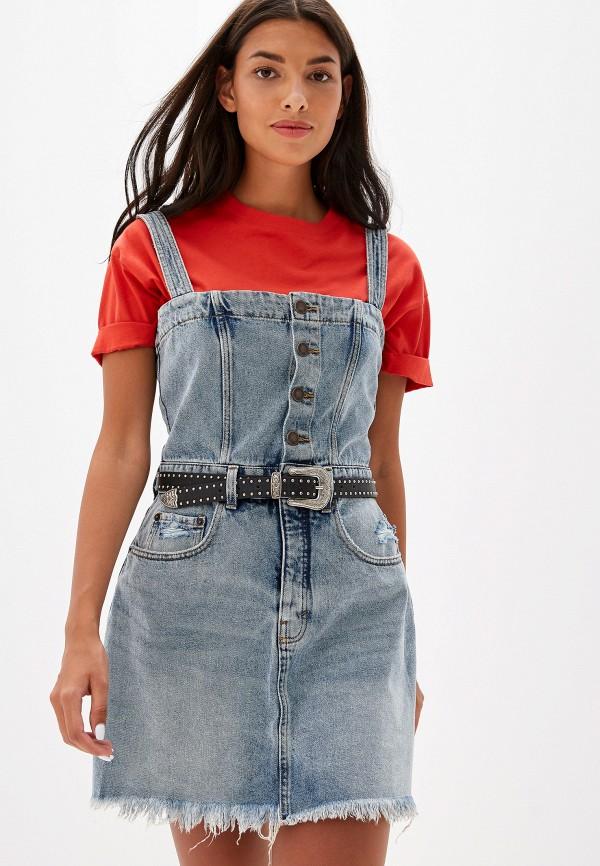 женское джинсовые платье cheap monday, голубое