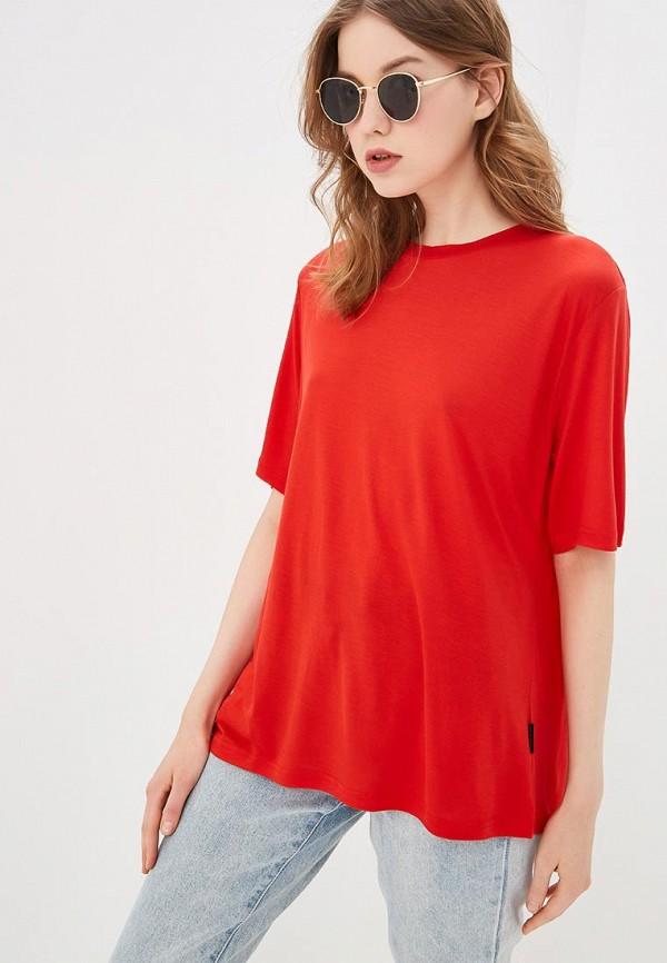 женская футболка cheap monday, красная