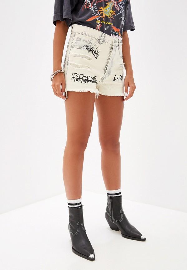 женские джинсовые шорты cheap monday, белые