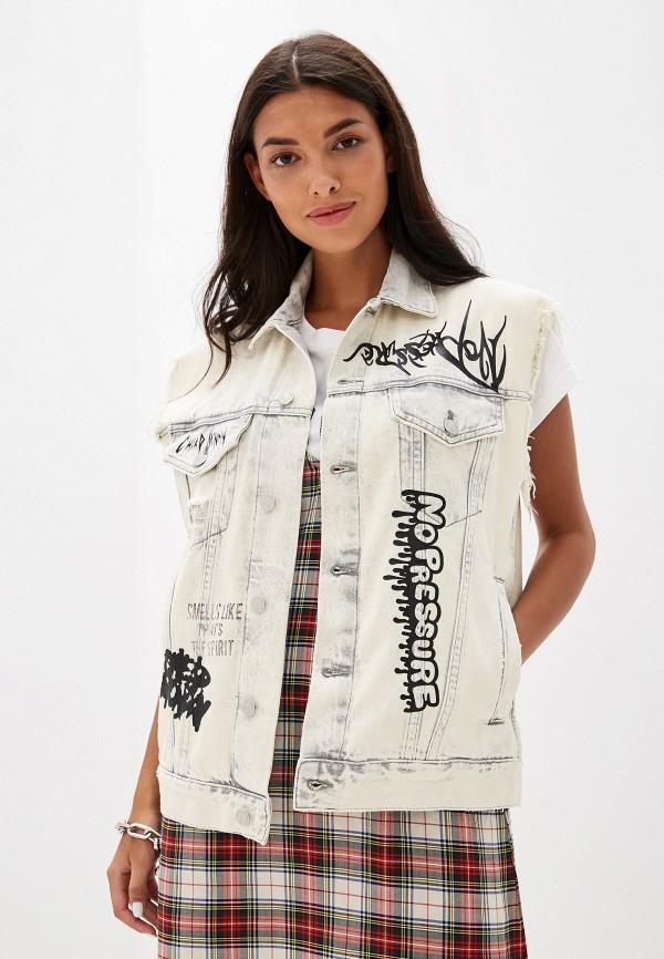 женский джинсовые жилет cheap monday, белый