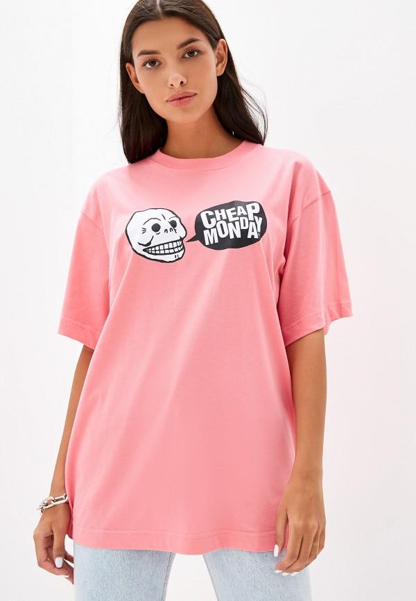 женская футболка cheap monday, розовая