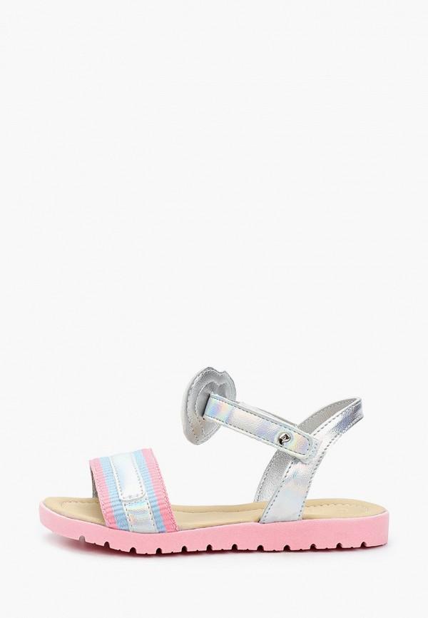 сандалии choupette для девочки, серебряные