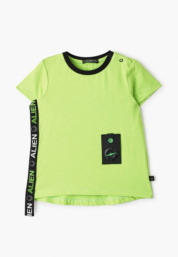 футболка с коротким рукавом choupette для мальчика, зеленая
