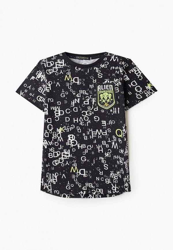 футболка с коротким рукавом choupette для мальчика, черная