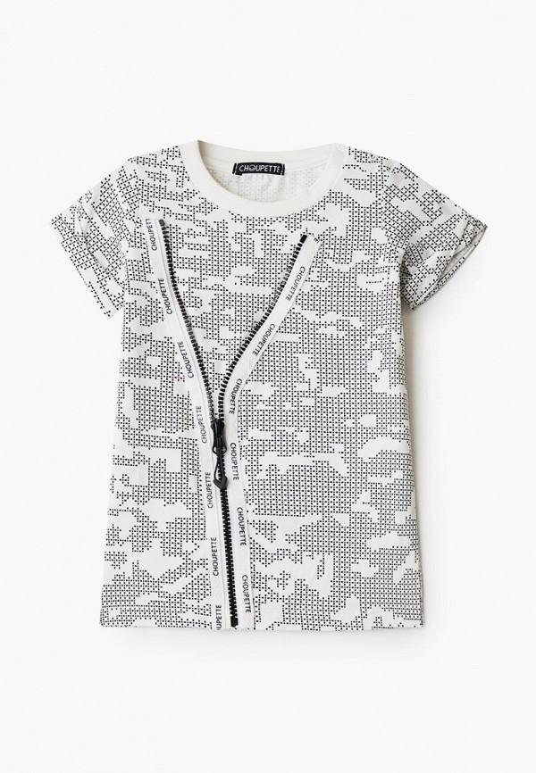 футболка с коротким рукавом choupette для мальчика, серая