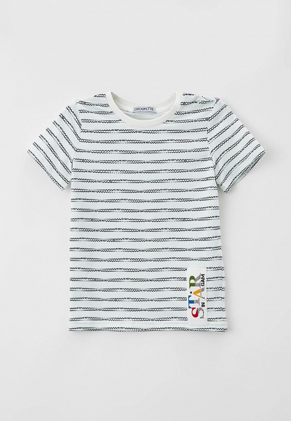 футболка с коротким рукавом choupette для мальчика, белая