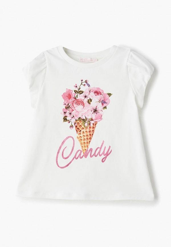 футболка с коротким рукавом choupette для девочки, белая