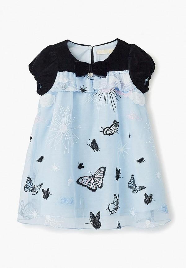 платье choupette для девочки, голубое