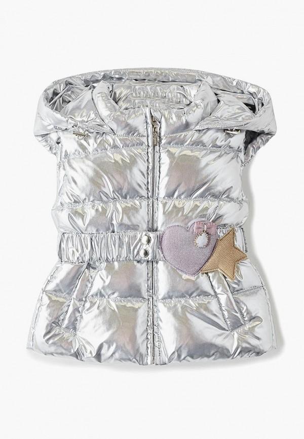 жилет choupette для девочки, серебряный