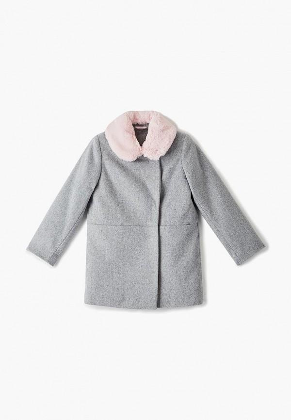 пальто choupette для девочки, серое