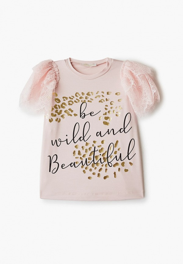 футболка с коротким рукавом choupette для девочки, розовая