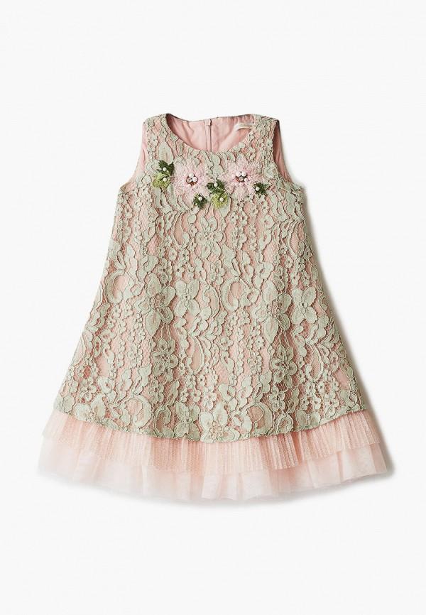 платье choupette для девочки, зеленое
