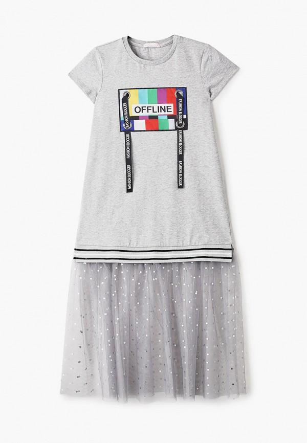 повседневные платье choupette для девочки, серое