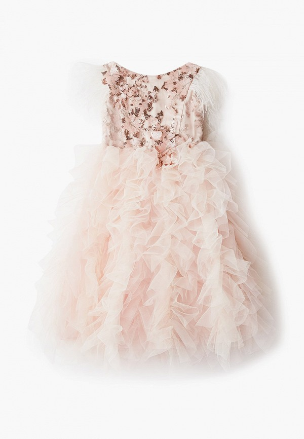 платье choupette для девочки, бежевое