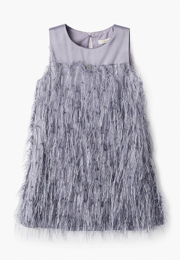 платье choupette для девочки, серебряное