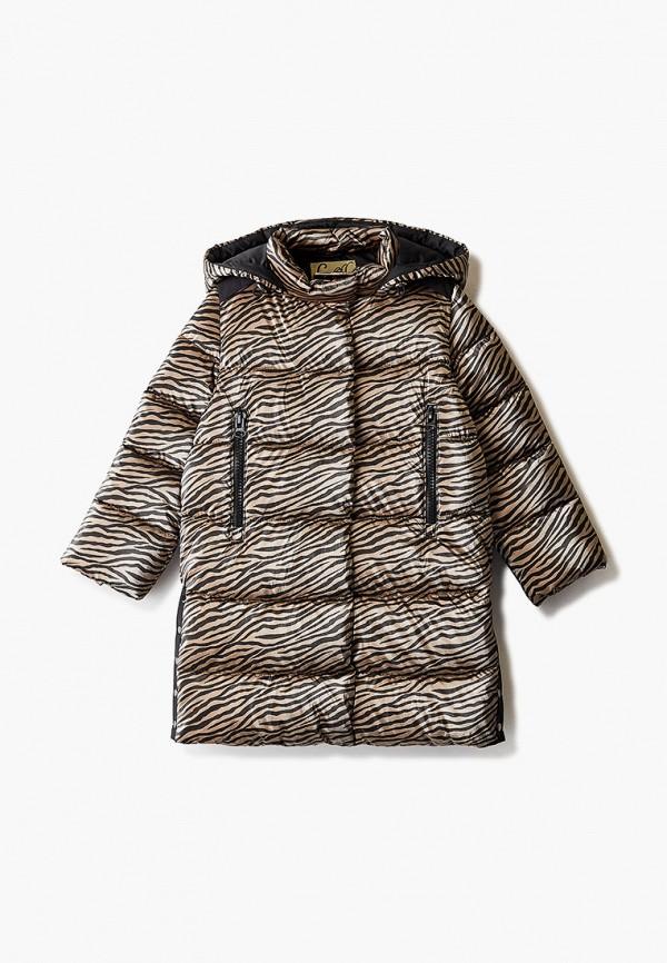 куртка choupette для девочки, коричневая