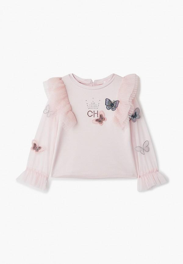 блузка choupette для девочки, розовая