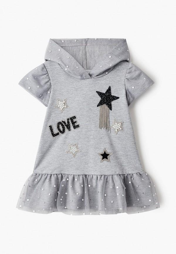 платье choupette для девочки, серое