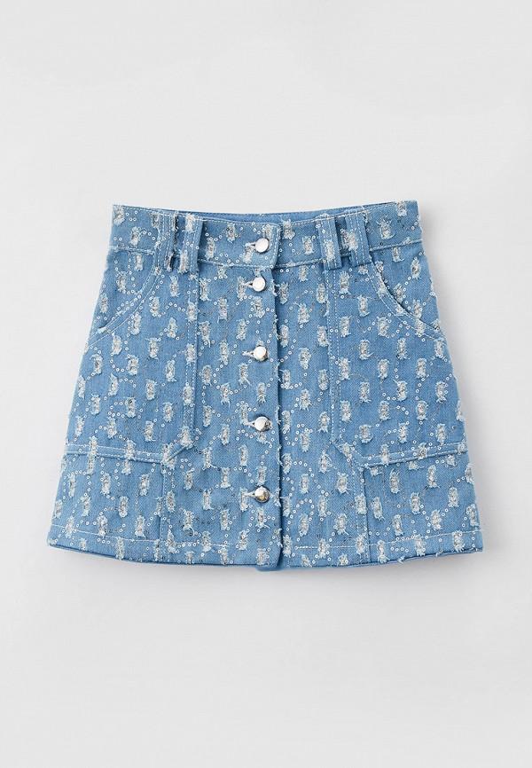 юбка choupette для девочки, голубая