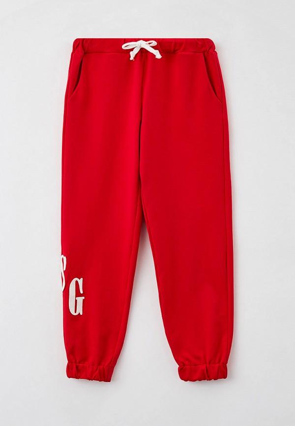 спортивные брюки choupette для девочки, красные