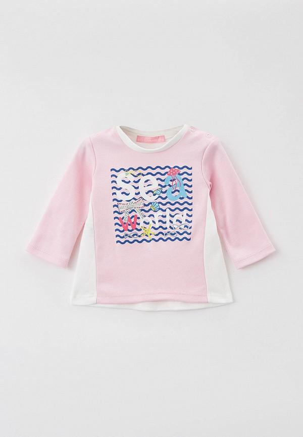 лонгслив choupette для девочки, розовый