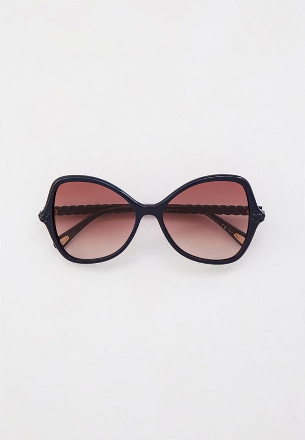 женские квадратные солнцезащитные очки chloe, синие