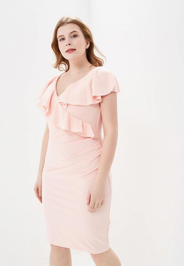 женское вечерние платье city goddess, розовое