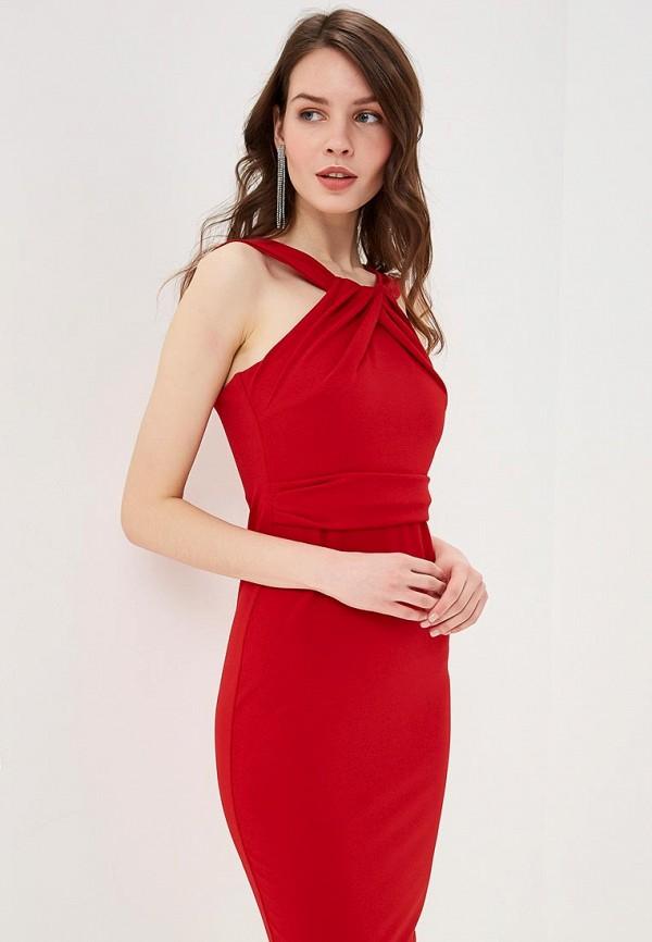 женское платье-футляр city goddess, красное